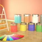 Paleta kolorów farb do ścian