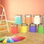 Rodzaje farb do ścian